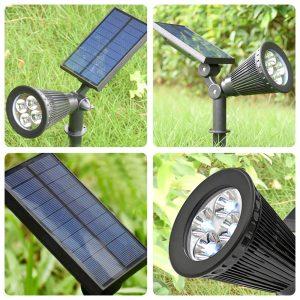 Faretti LED con pannello solare